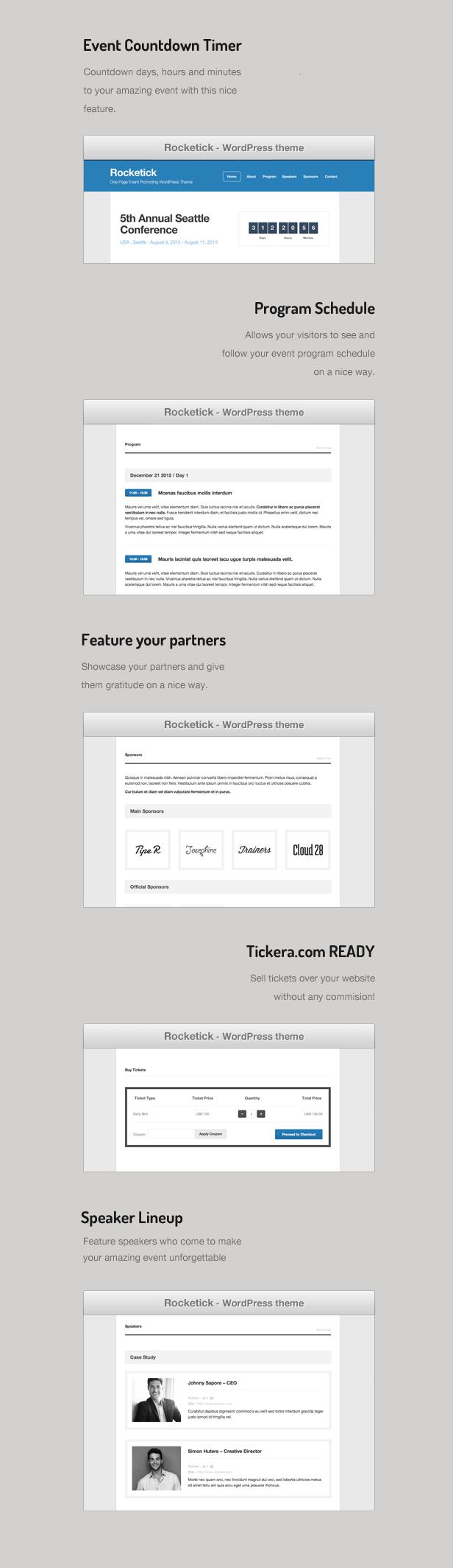 Rocketick - Responsive Events WordPress Theme